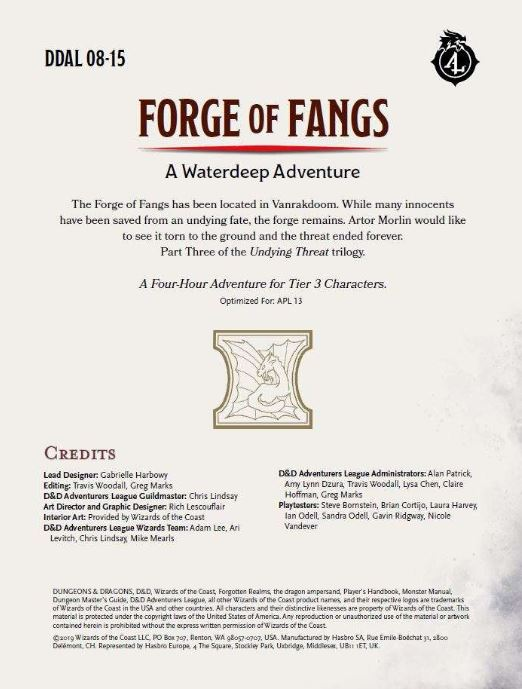 "cover of ""Forge of Fangs"" adventure"